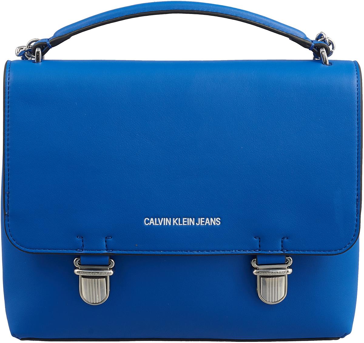 Сумка женская Calvin Klein Jeans, цвет: синий. K40K400614/4550 рубашка женская calvin klein jeans цвет синий j20j209111 9110 размер xs 40 42