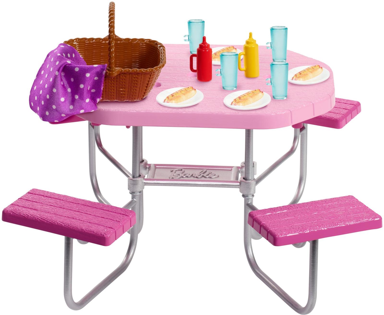 Фото - Мебель для кукол Barbie Отдых на природе, FXG37_FXG40 наборы для пикника