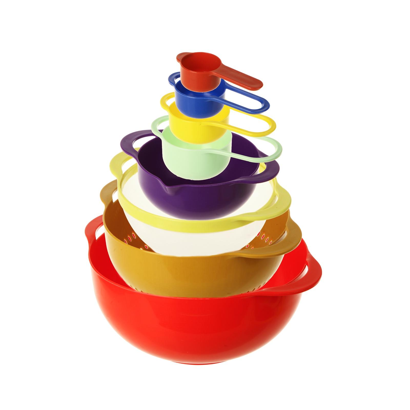 Комплект посуды для приготовления Kitchen Angel складывающийся компактно как матрёшка, разноцветный