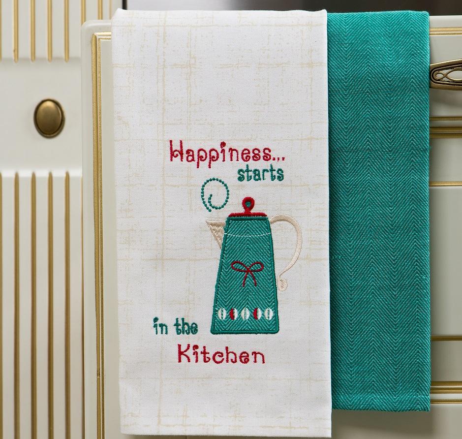 Полотенце кухонное Arloni Набор Утренний кофе , 4054.3, зеленый цена