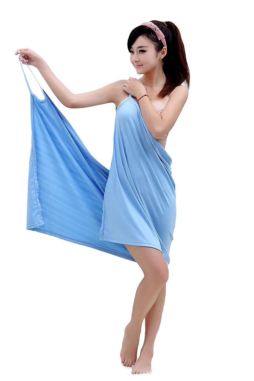 Полотенце банное Blonder Home Платье-полотенце TOWEL-01, TOWEL-01, голубой полотенце банное квк что