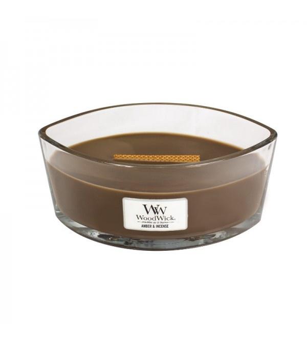 Свеча ароматизированная Woodwick Янтарь и ладан, 76041 свеча дорога специй orval