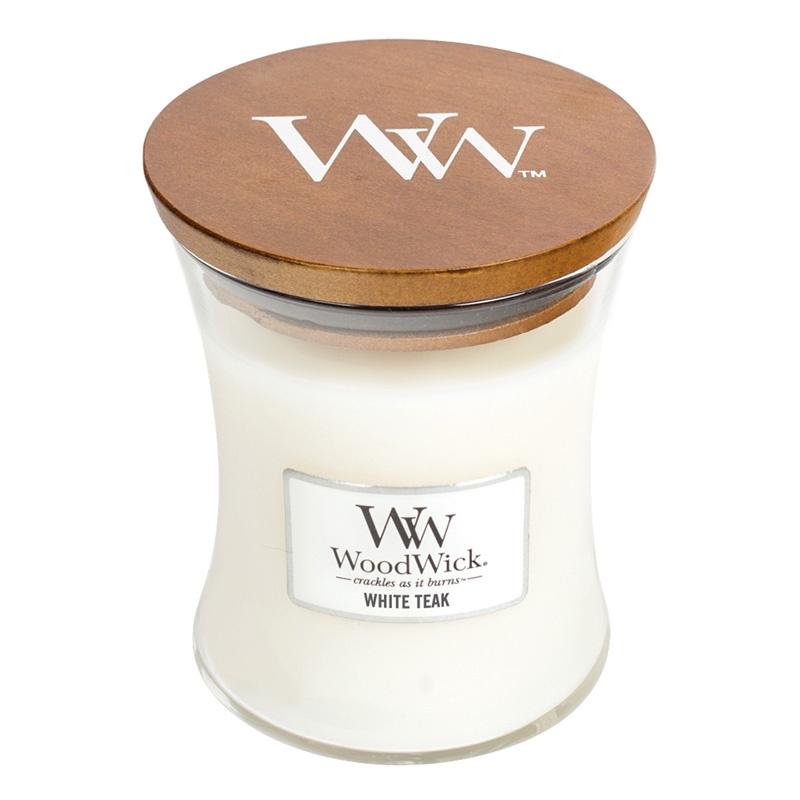 Свеча ароматизированная Woodwick Белый тик, 92039 свеча ароматизированная woodwick черное дерево 78358