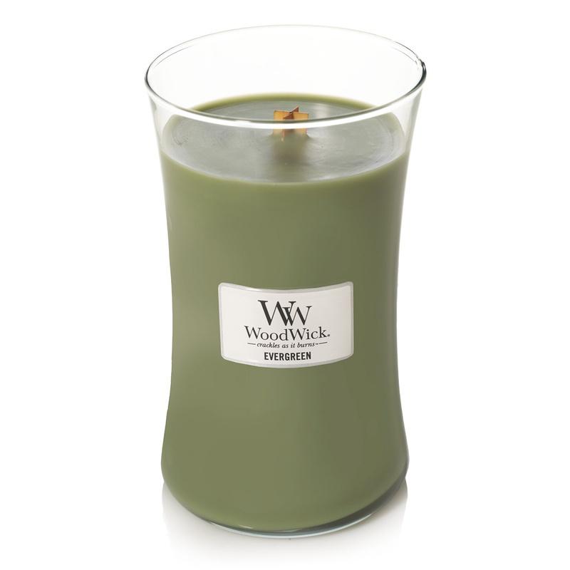 Свеча ароматизированная Woodwick Evergreen, 93142 ароматическая свеча woodwick лен маленькая