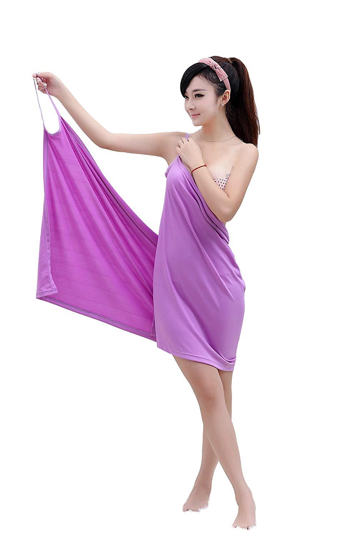 Полотенце банное Blonder Home Платье-полотенце TOWEL-03, TOWEL-03, сиреневый полотенце банное квк что