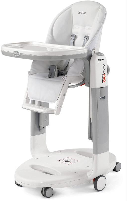 Стульчик для кормления Peg-Perego Tatamia Follow Me Latte, цвет: белый стульчик для кормления шезлонг