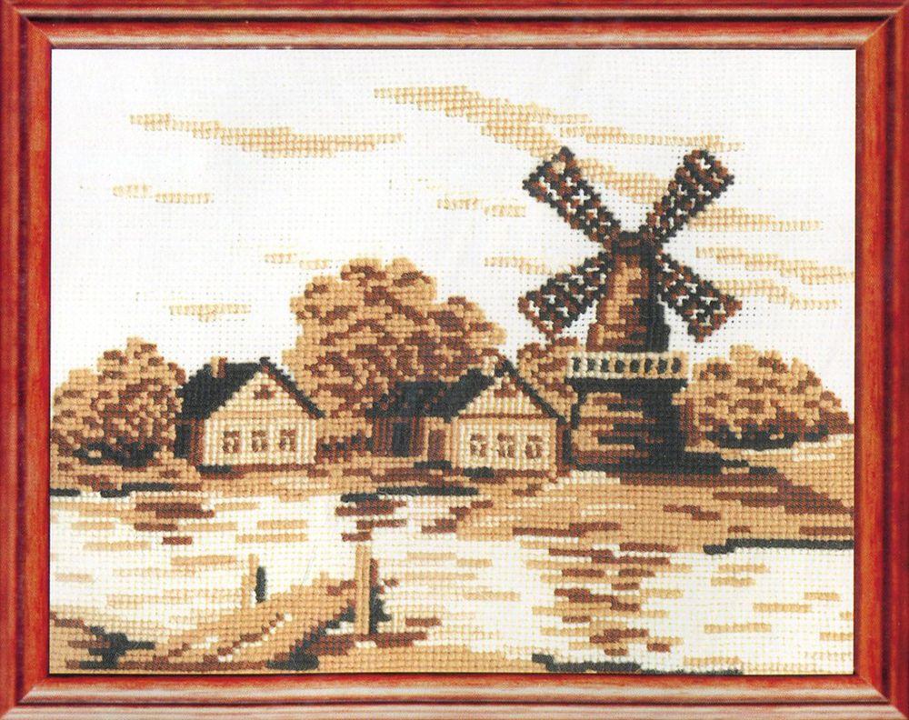 Набор для вышивания Сделай своими руками Старая мельница счетным крестом, 553262, 27 х 20 см наборы для вышивания сделай своими руками набор для творчества четвероногие друзья