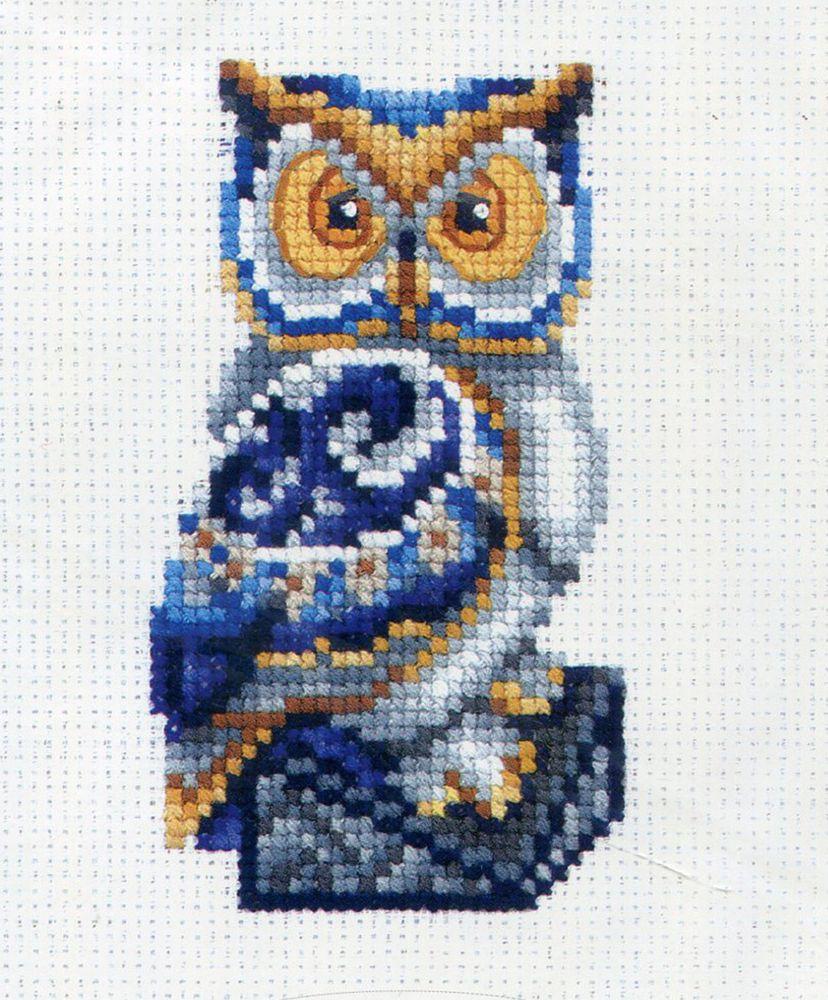 Набор для вышивания Сделай своими руками Статуэтки. Сова счетным крестом, 901377, 10 х 12 см набор для вышивания крестом сделай своими руками пионы и розы 35 х 44 см