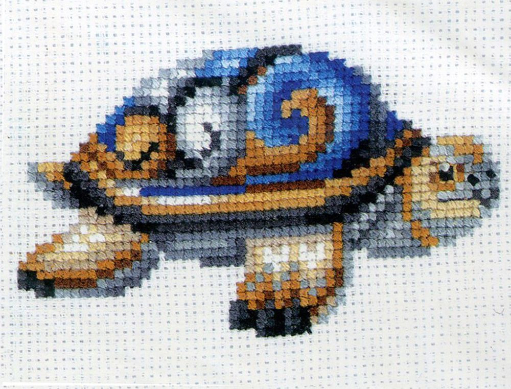 Набор для вышивания Сделай своими руками Статуэтки. Черепаха счетным крестом, 901379, 12 х 10 см черепаха для сада своими руками