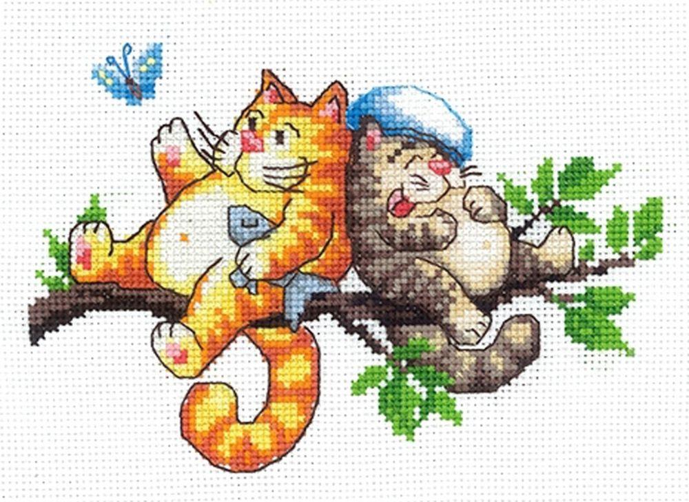 Набор для вышивания Сделай своими руками Отдыхаем счетным крестом, 505827, 16,5 х 12 см набор для вышивания сделай своими руками журавли счетным крестом 901878 26 5 х 20 см