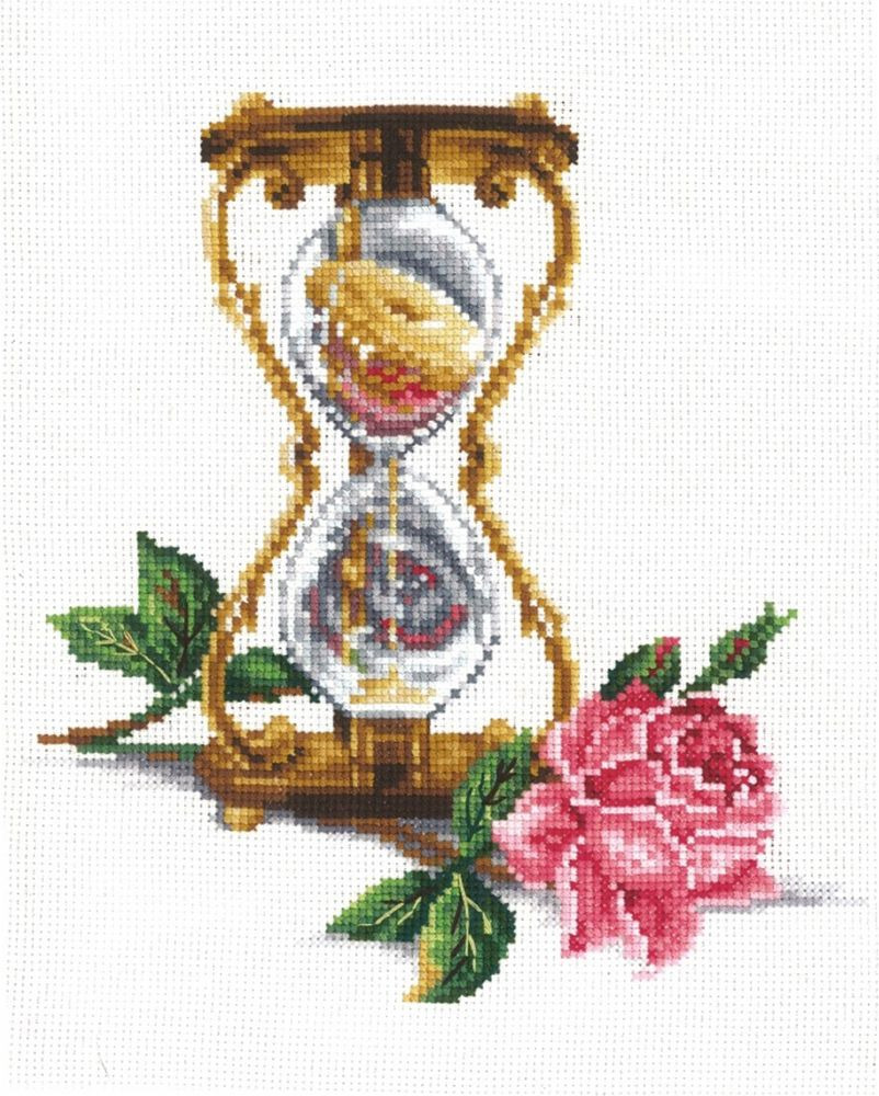 Набор для вышивания Сделай своими руками Песочные часы счетным крестом, 505828, 20 х 23 см набор для вышивания крестом сделай своими руками пионы и розы 35 х 44 см