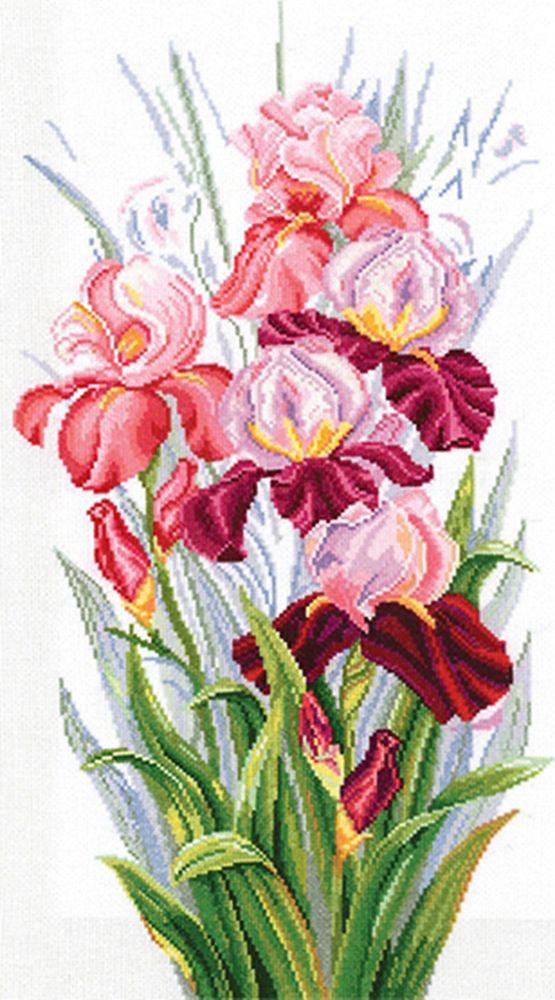 Набор для вышивания Сделай своими руками Торжество ирисов счетным крестом, 553218, 23 х 44 см набор для вышивания крестом сделай своими руками пионы и розы 35 х 44 см