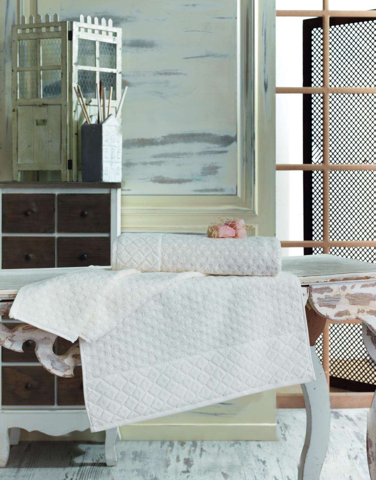 Полотенце махровое 50х90 DELTA (крем) полотенце махровое 50х90 см brielle полотенце махровое 50х90 см