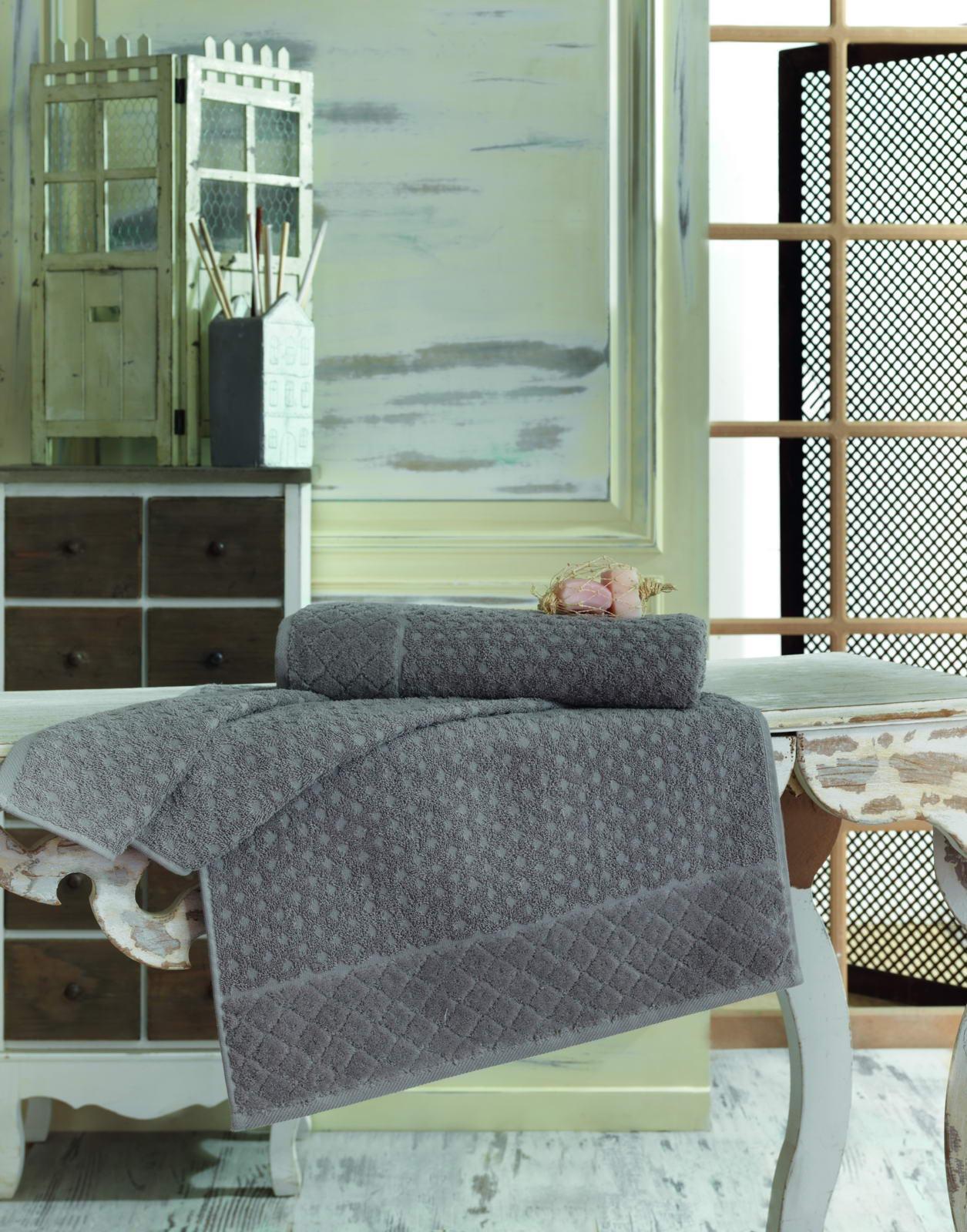Полотенце махровое 50х90 DELTA (серое) полотенце махровое 50х90 см brielle полотенце махровое 50х90 см