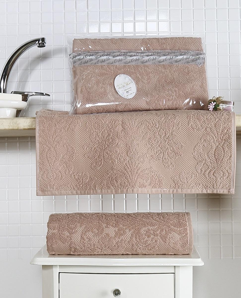Полотенце 50х100 жаккард ALMEDA абрикос полотенца togas полотенце тренд цвет коричневый 50х100 см