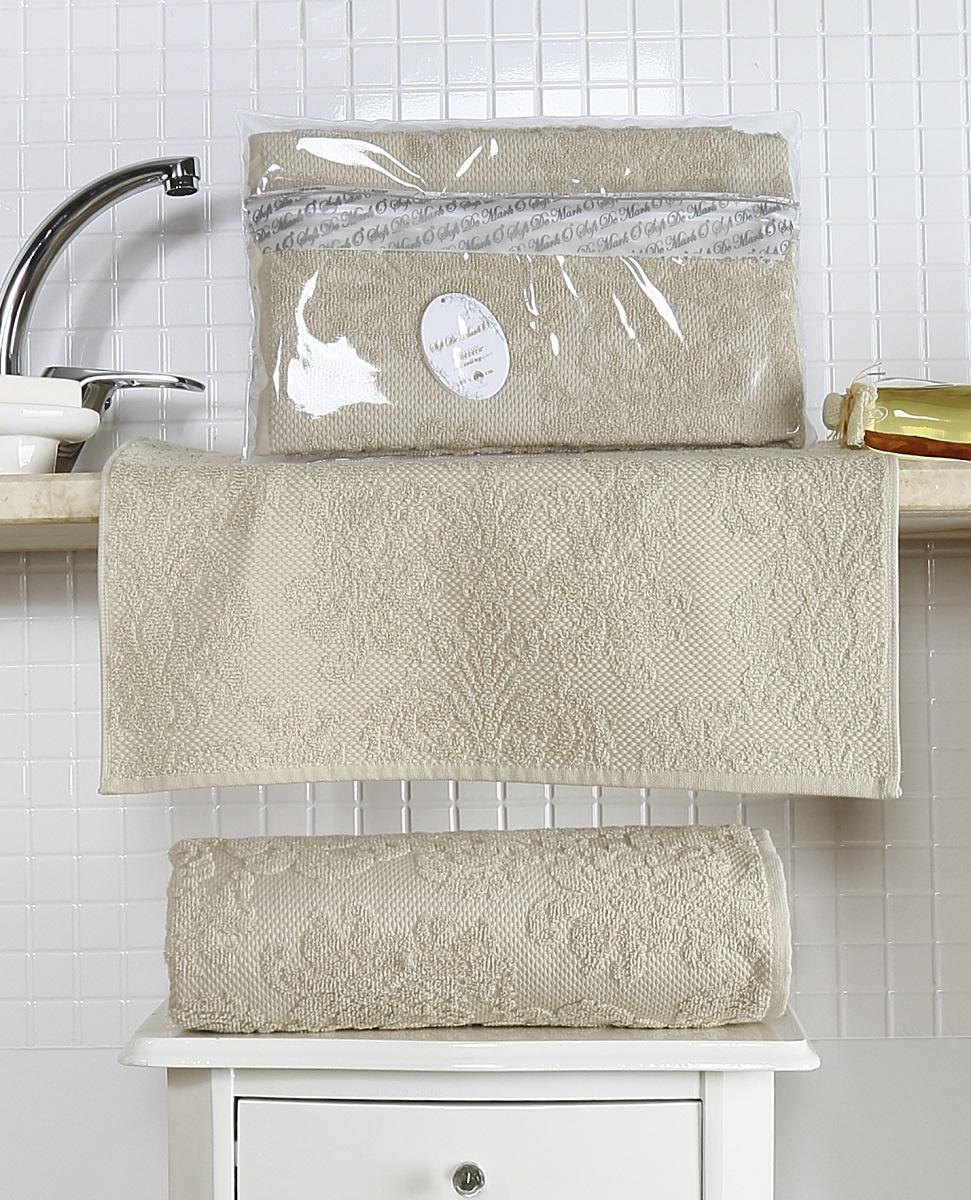 Полотенце 50х100 жаккард ALMEDA (беж) полотенца togas полотенце тренд цвет коричневый 50х100 см