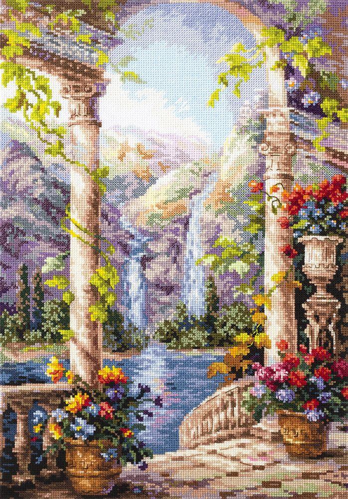 Набор для вышивания Чудесная игла На острове мечты счетным крестом, 904112, 27 х 40 см 1872 романтик чудесная игла чудесная игла