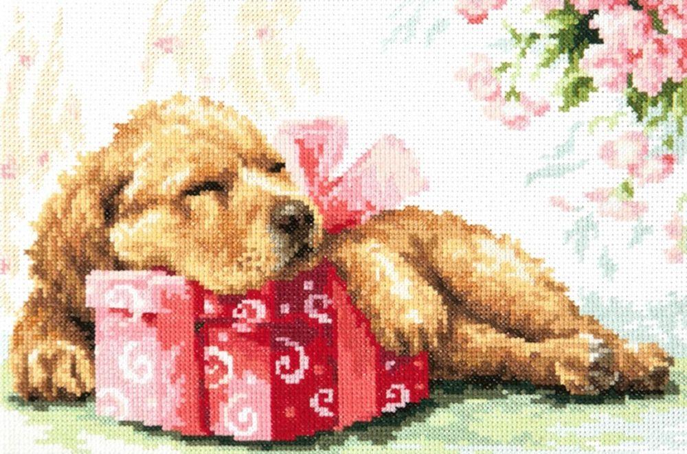 Набор для вышивания Чудесная игла Ждём тебя дома! счетным крестом, 902355, 26 х 18 см 1872 романтик чудесная игла чудесная игла