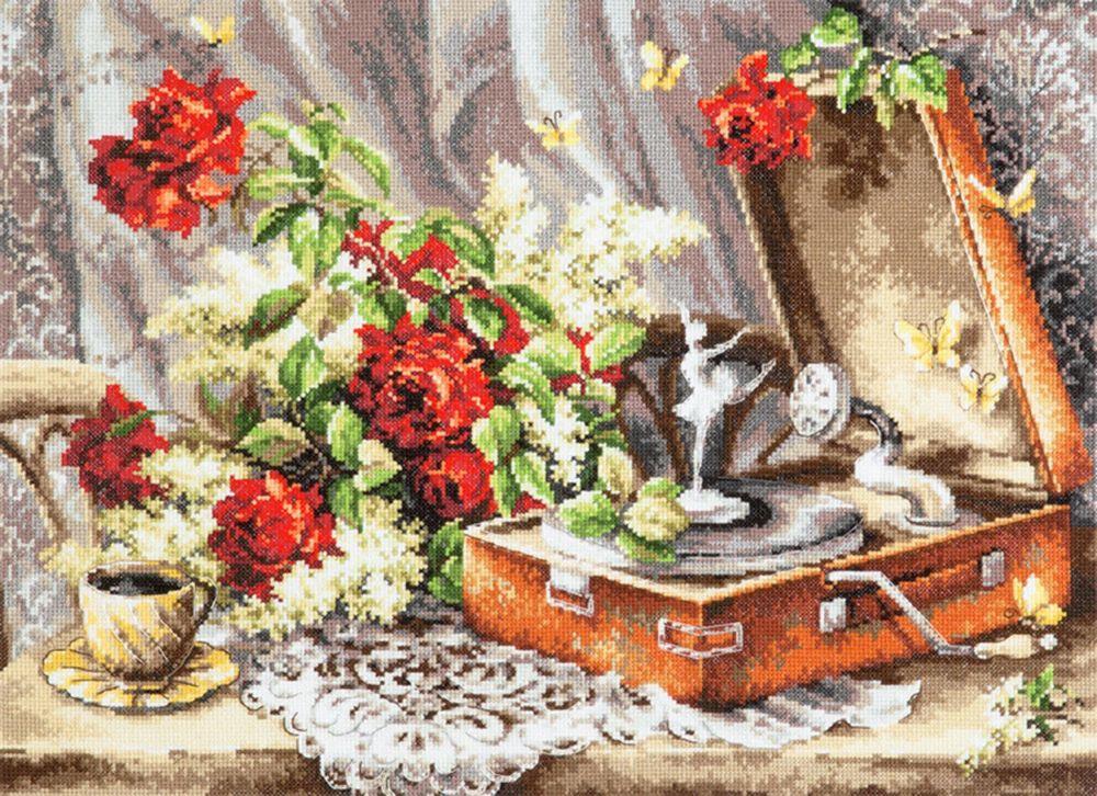 Набор для вышивания Чудесная игла Ностальгия счетным крестом, 553067, 46 х 34 см 1872 романтик чудесная игла чудесная игла