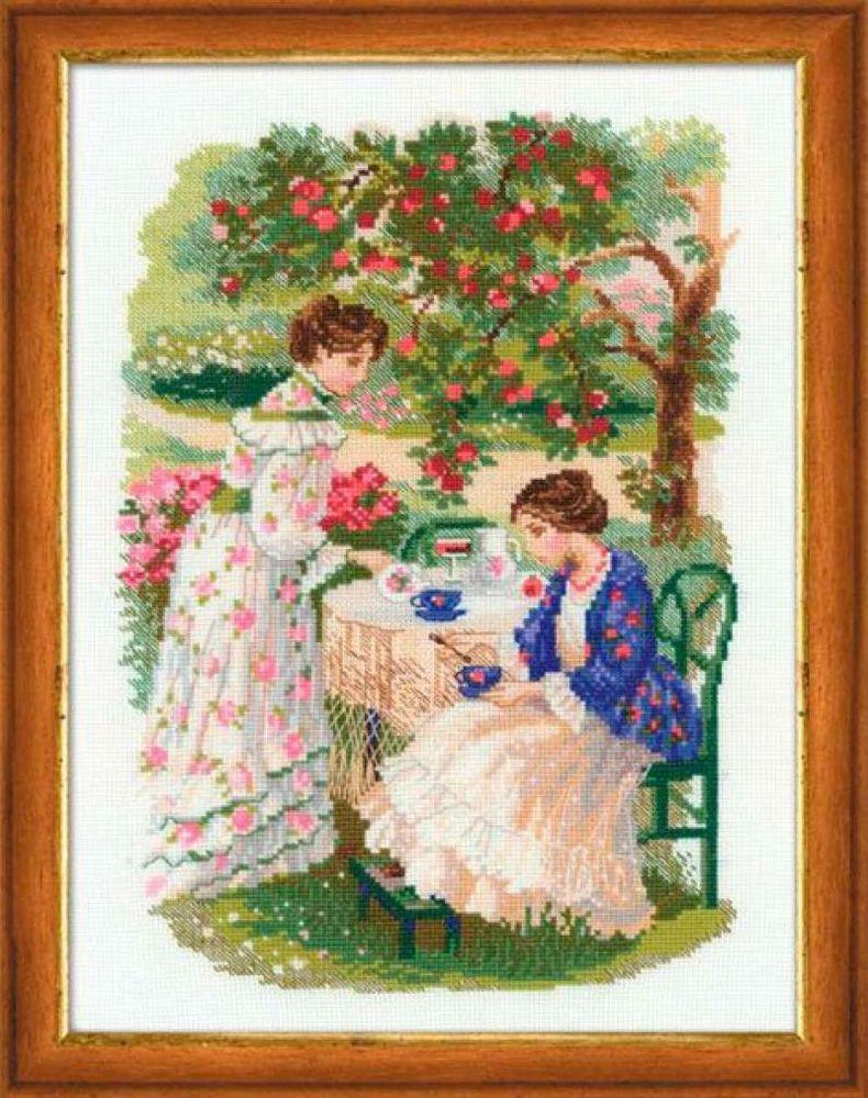 Набор для вышивания Русская усадьба. Чай под яблоней, 30 см х 40 см