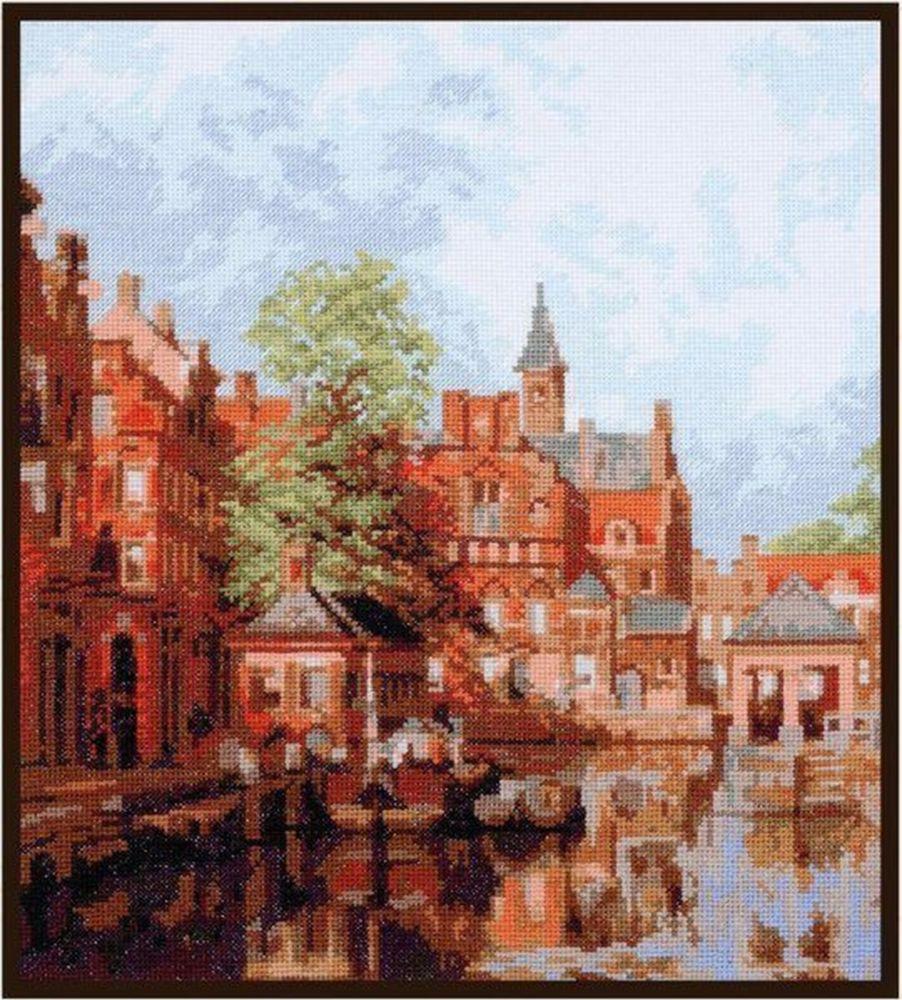 Набор для вышивания Палитра Дордрехт. Городской пейзаж счетным крестом, 902901, 27 х 30 см