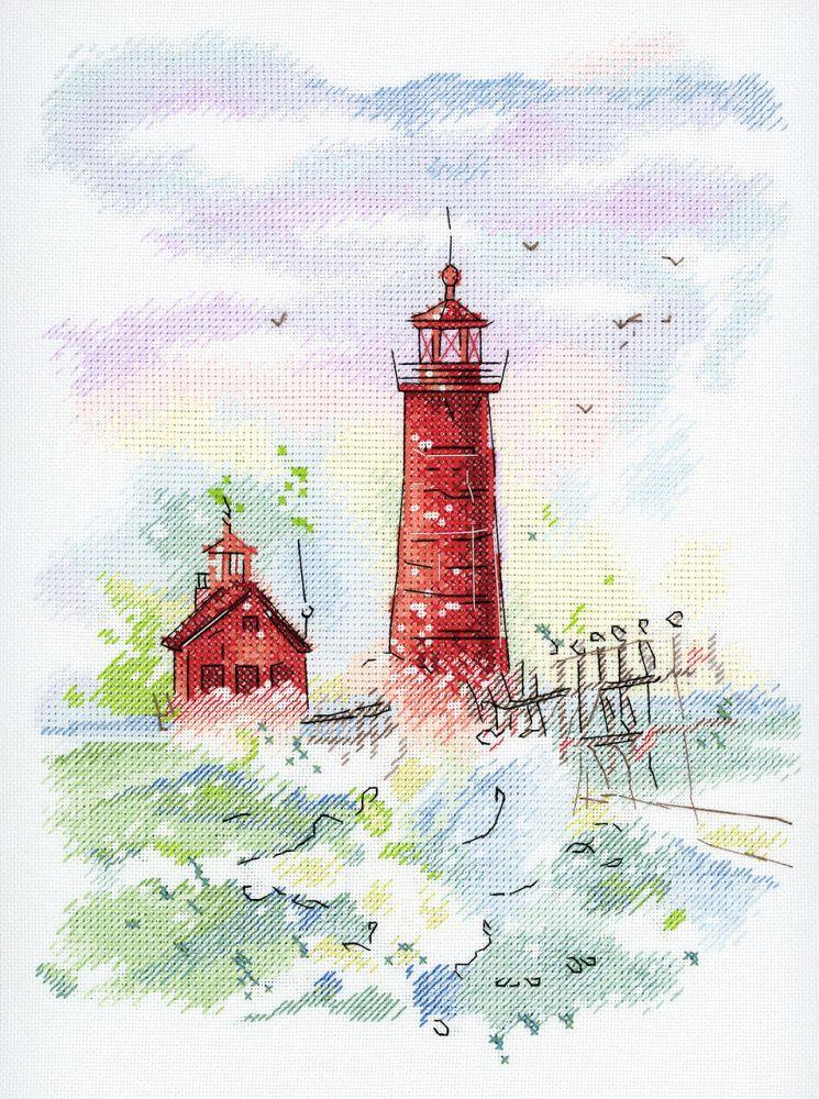 """Набор для вышивания М.П.Студия """"Морская гавань"""" счетным крестом, 503119, 27 х 20 см"""