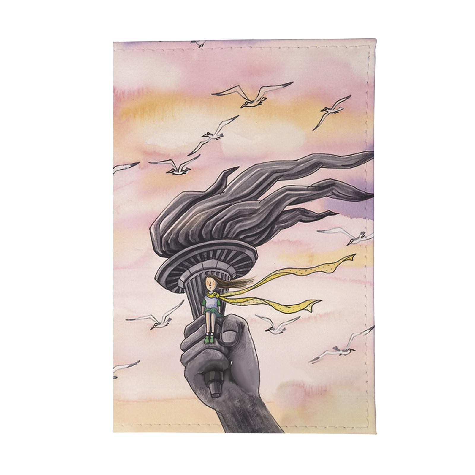 Обложка для паспорта Mitya Veselkov OZAM, розовый обложка для паспорта кожаная mitya veselkov признание в любви