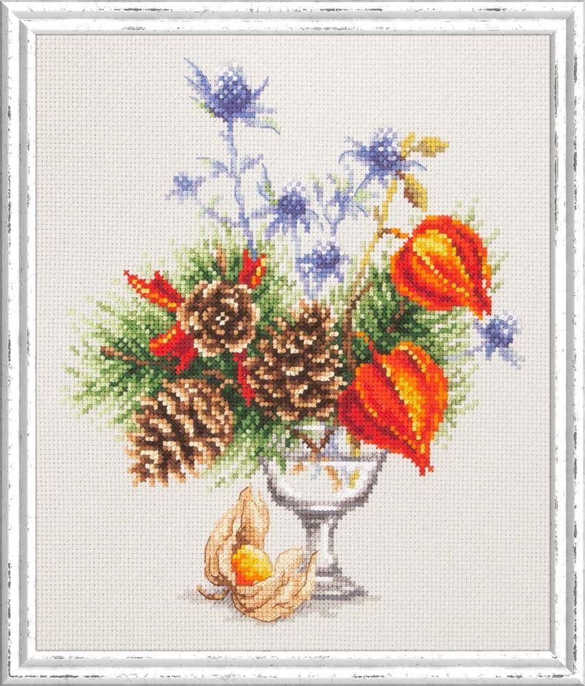 Набор для вышивания Чудесная игла Зимний букетик счетным крестом, 503006, 20 х 23 см 1872 романтик чудесная игла чудесная игла