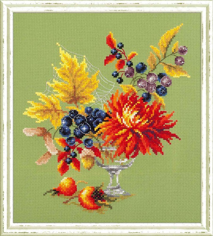 Набор для вышивания Чудесная игла Осенний букетик счетным крестом, 503003, 20 х 23 см 1872 романтик чудесная игла чудесная игла