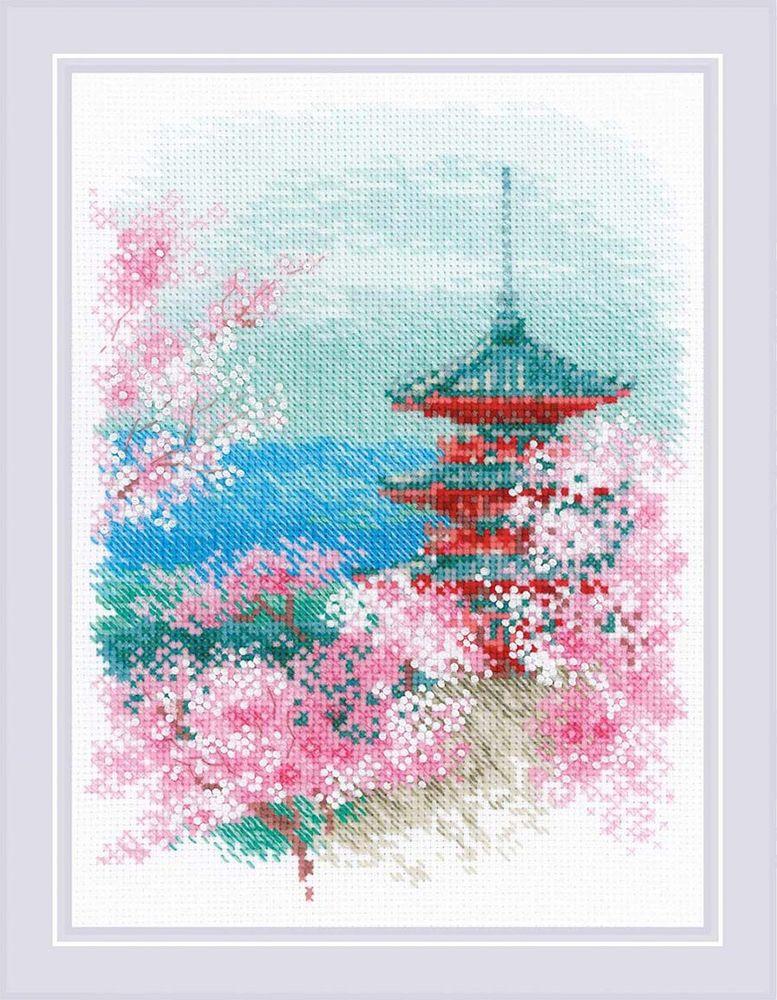 Набор для вышивания Риолис Сакура. Пагода, 24 х 18 см1743Сакура является национальным символом Японии. Местные жители часто воспевают это дерево в своих песнях и описывают его красоту в стихотворениях. Художница Анна Петросян, увлеченная японской культурой, создает прекрасные схемы с этим необыкновенным цветущим деревом. Нежные розовые соцветия, которые щедро осыпают ветви, завораживают и вдохновляют, а приятный аромат дарит спокойствие и умиротворение. Предлагаем обратить внимание на набор Сакура. Пагода и создать триптих с цветущей сакурой для своего дома.Материалы набора: 14 Aida Zweigart белая; мулине Anchor; цветная схема; бисер; игла. Автор: Анна Петросян.