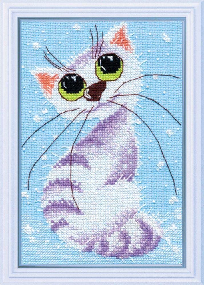 Набор для вышивания Овен Кошка-крошка-2 счетным крестом, 902616, 18 х 12 см набор для вышивания магнита овен анапа на пластиковой основе 13 х 7 см