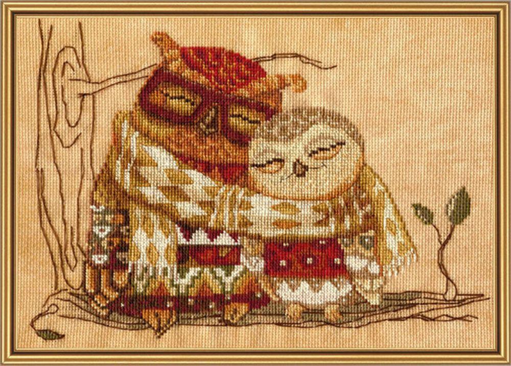 Набор для вышивания Нова Слобода Семейное тепло счетным крестом, 903351, 26 х 18 см набор для вышивания крестом нова слобода морское путешествие