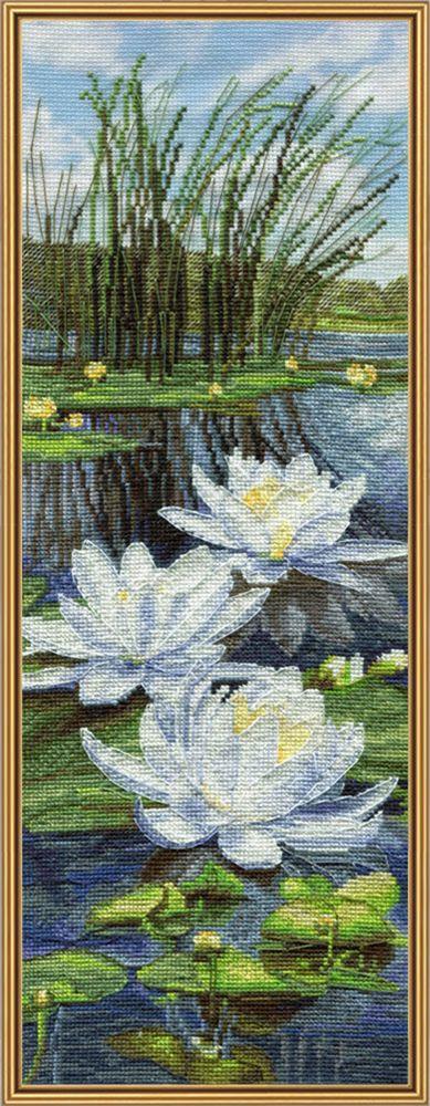 Набор для вышивания Нова Слобода Белые лилии счетным крестом, 903069, 16 х 50 см набор для вышивания крестом нова слобода морское путешествие