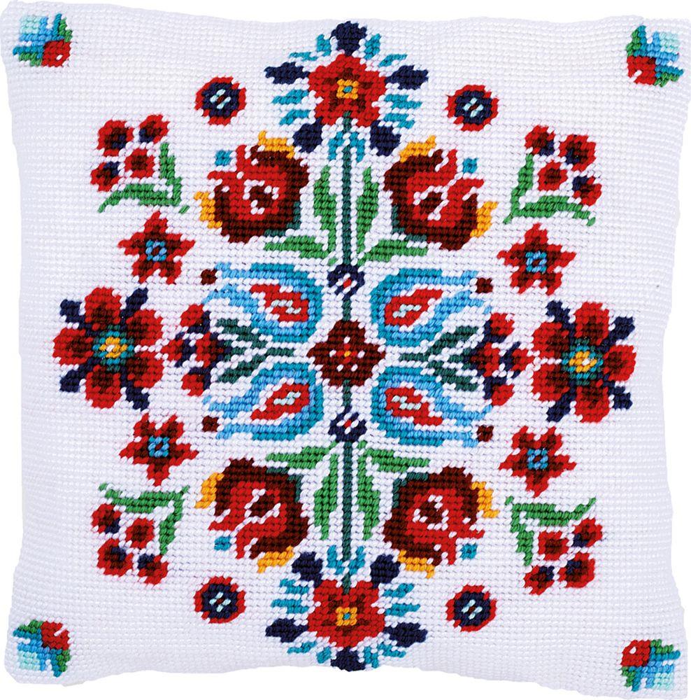 Набор для вышивания Vervaco Фольклор счетным крестом, 7722604, 40 х 40 см набор для вышивания подушки vervaco белая лилия 40 см х 40 см