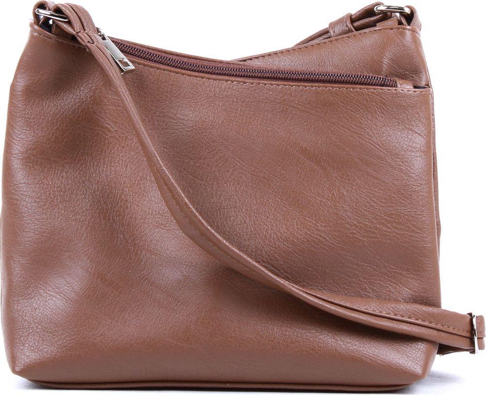 Сумка кросс-боди женская Медведково, 18с4318-к14/1, какао сумка шоппер женская медведково цвет темно синий 16с3492 к14