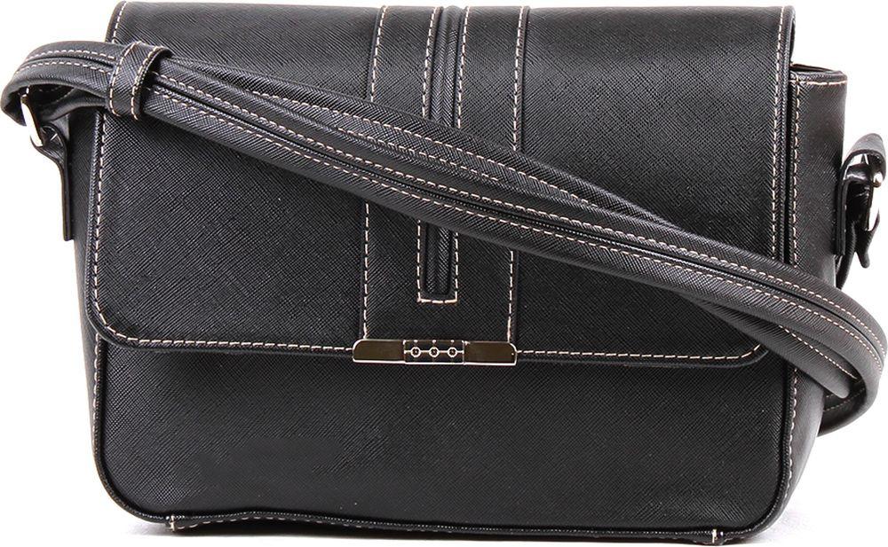 Сумка кросс-боди женская Медведково, 18с4334-к14, черный сумка шоппер женская медведково цвет темно синий 16с3492 к14