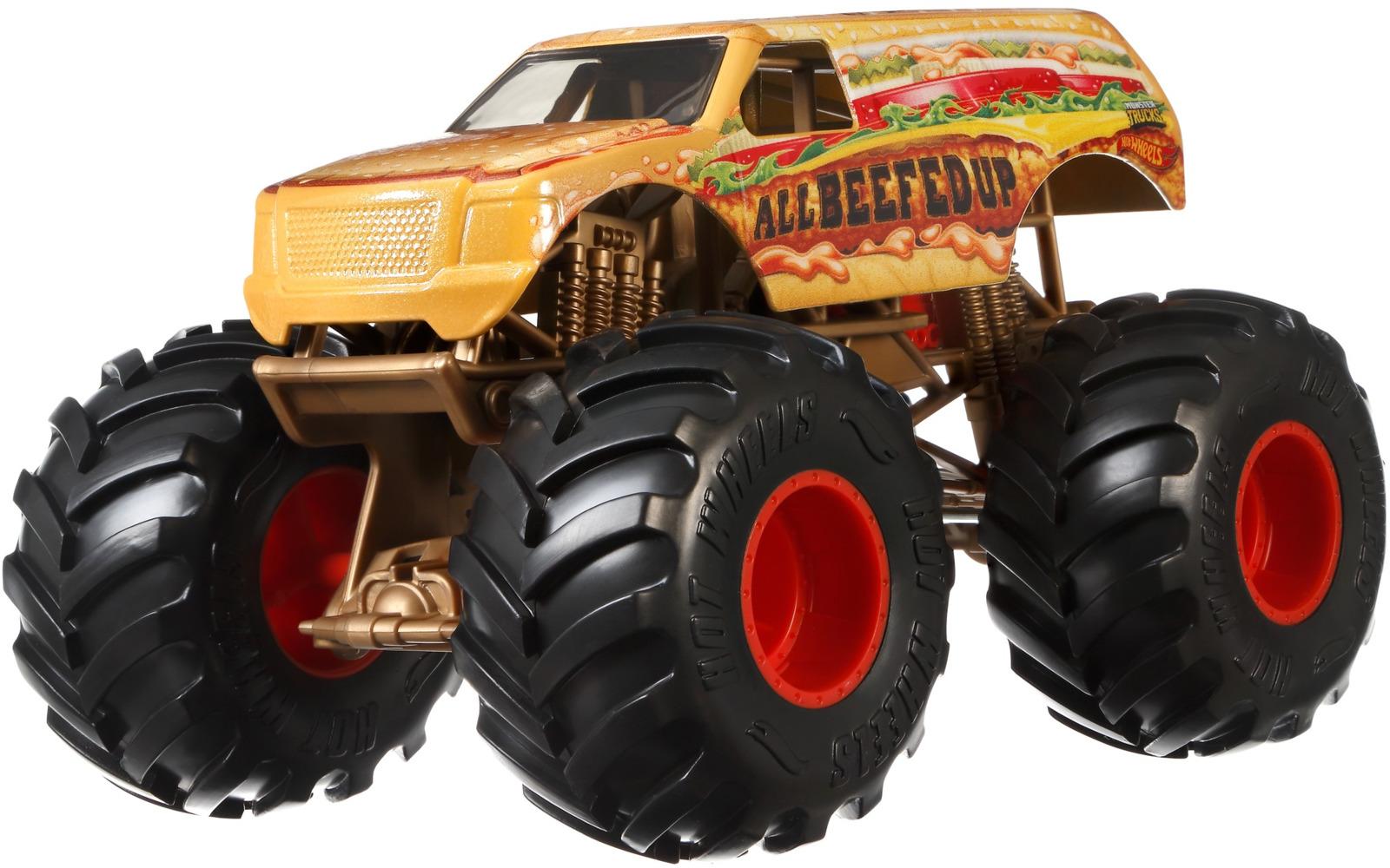 Машинка Hot Wheels Monster Trucks All Beefed Up, FYJ83_GBV41 альбом для творчества mazari монстр траки м 6504