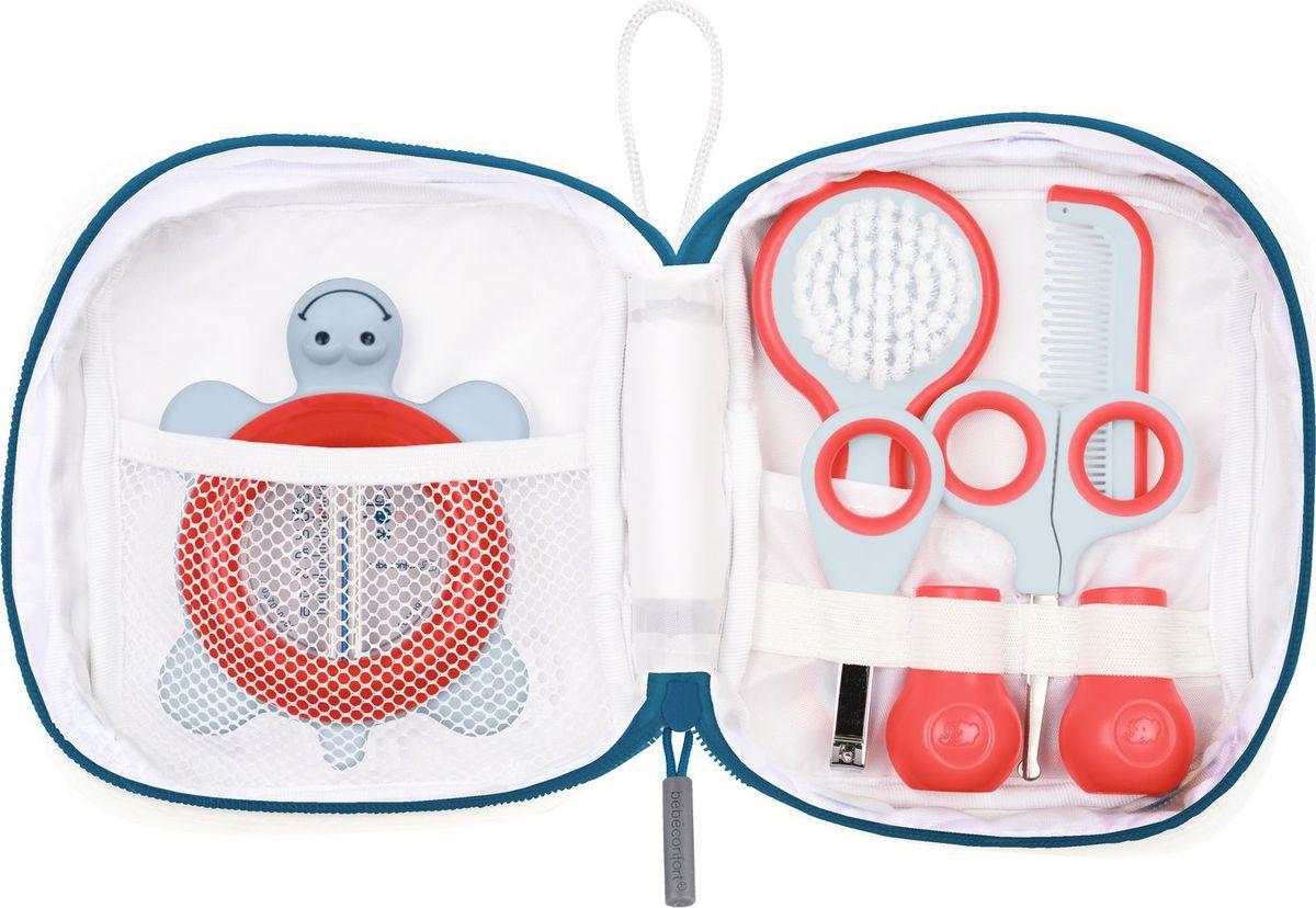 Набор по уходу за малышом Bebe Confort, 3106202300, 5 предметов, красный, белый эргономичные кусачки для ногтей с базой bebe confort красный