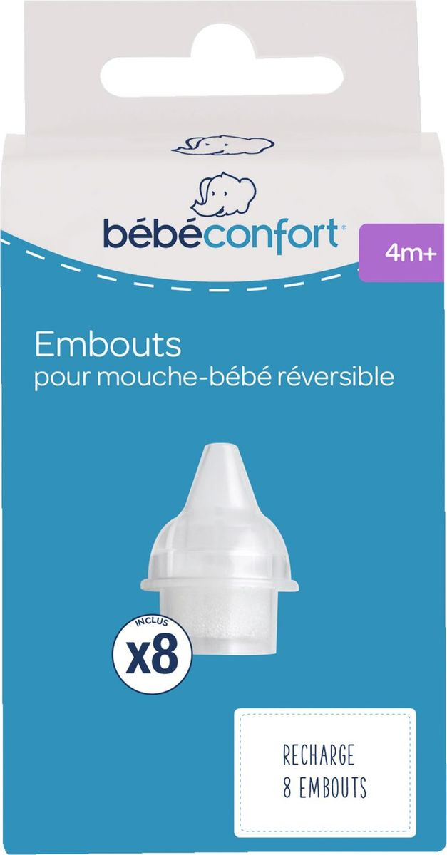 Насадки сменные Bebe Confort, 32000241, одноразовые, для аспиратора 32000240, 8 шт отривин бэби сменные насадки для аспиратора 10шт