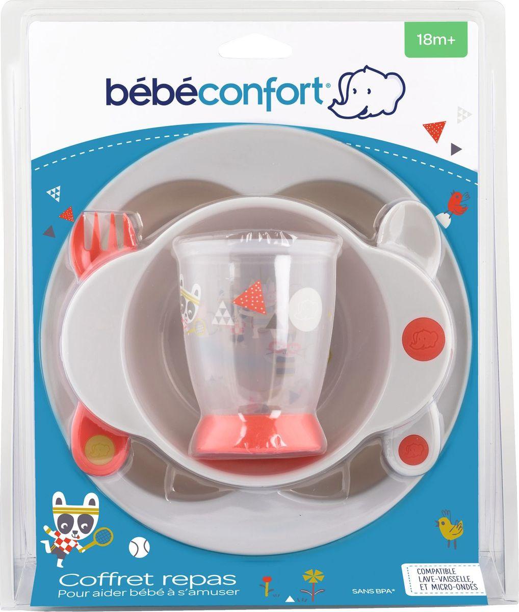 Набор посуды для кормления Bebe Confort Sport тарелка + миска + стаканчик + ложка + вилка, Полипропилен набор для кормления chicco ложка и вилка 12 310308027