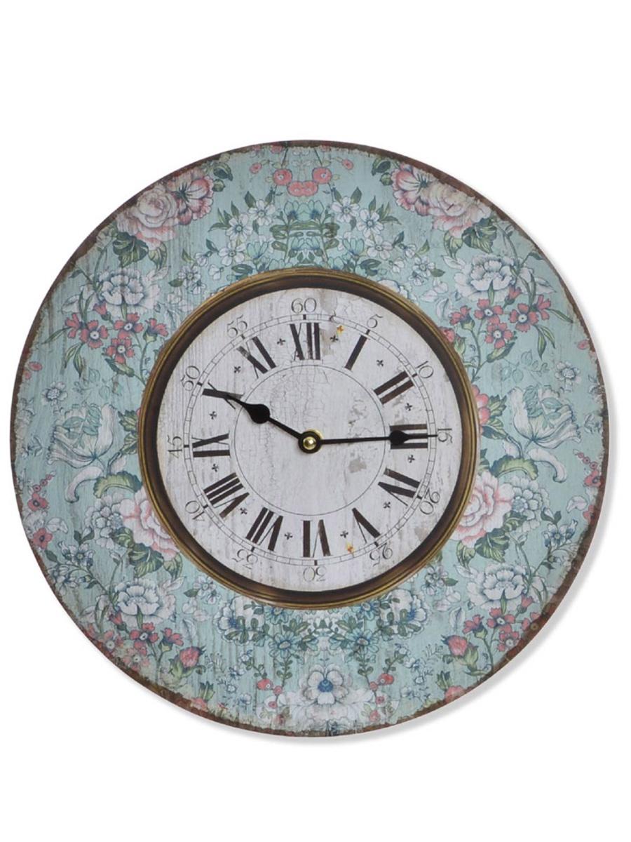 Настенные часы RICH LINE Home Decor Цветочное настроение, RE-143365-зеленый, зеленый цена