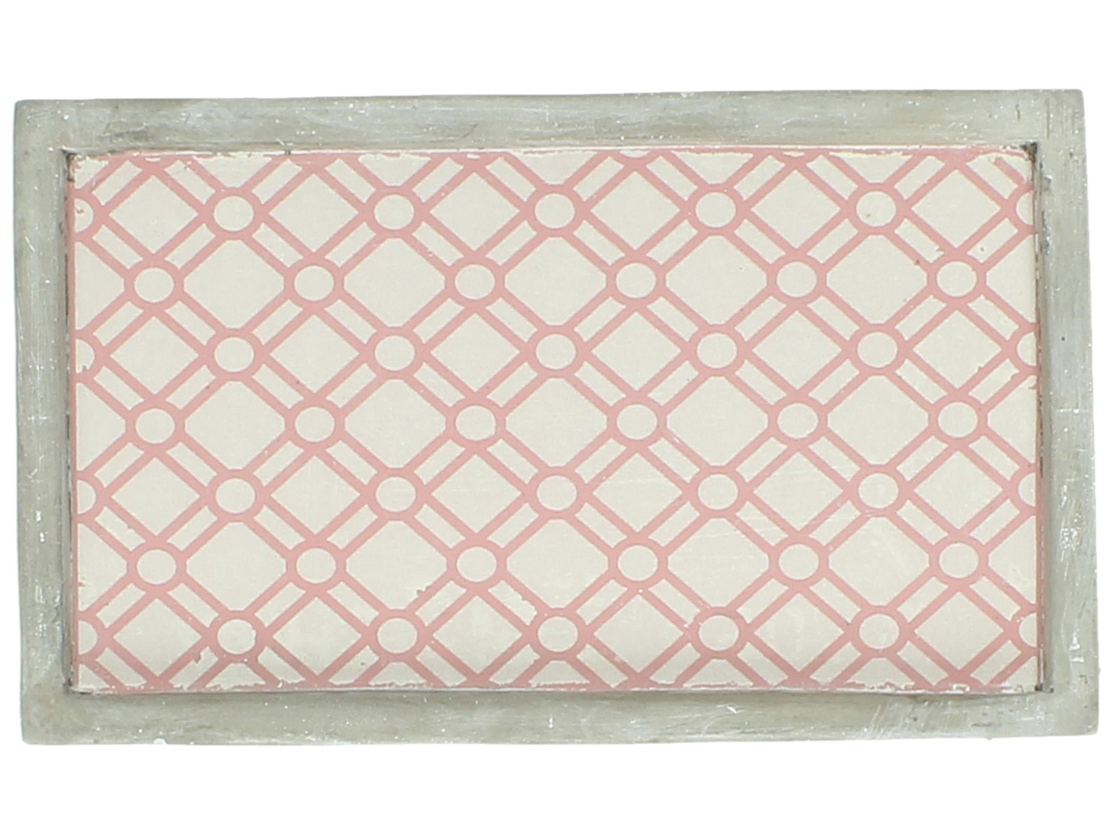 Декоративная тарелка RICH LINE Home Decor Азалия-14, WER-4655, серый