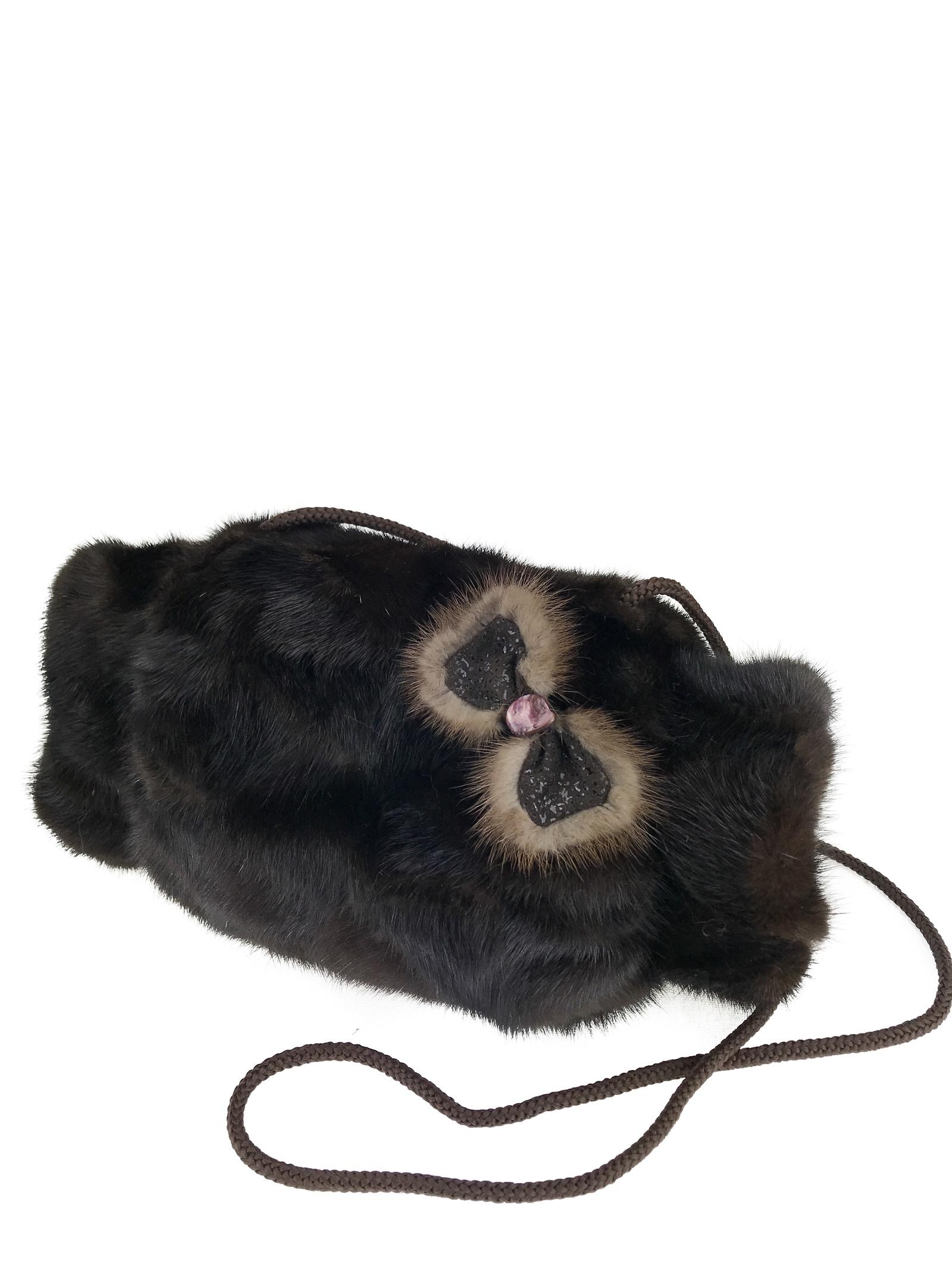 Муфта/кольцо для платка бижутерное Mex-style Муфта, темно-коричневый 12storeez сумка из меха норки темно коричневая
