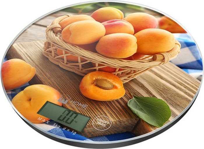 Кухонные весы Home Element Медовый абрикос, сенсорные, He-Sc933 весы кухонные home element he sc933 рисунок