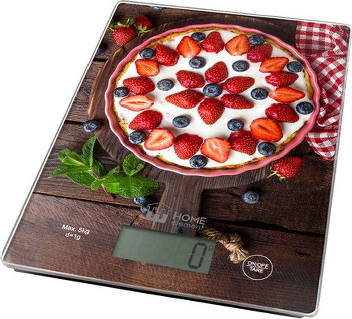 Кухонные весы Home Element Ягодный пирог, сенсорные, He-Sc932 весы кухонные home element he sc933 рисунок