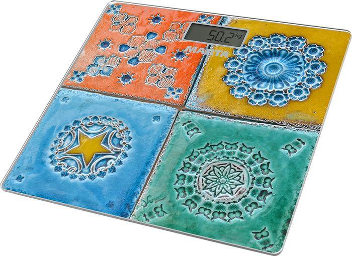 Напольные весы Marta Итальянская плитка, сенсорные, Mt-1677 напольные весы marta mt 1677 золотистая мозаика