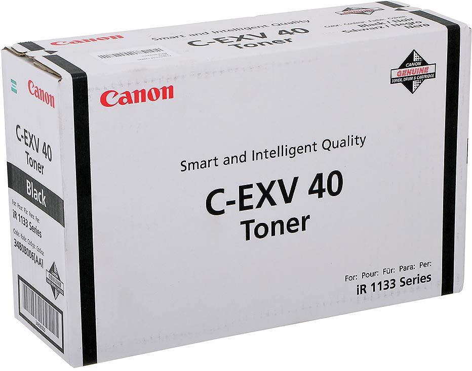 Картридж Canon C-EXV40, черный, для лазерного принтера, оригинал