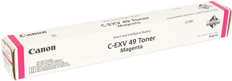 Картридж Canon C-EXV49M, пурпурный, для лазерного принтера, оригинал
