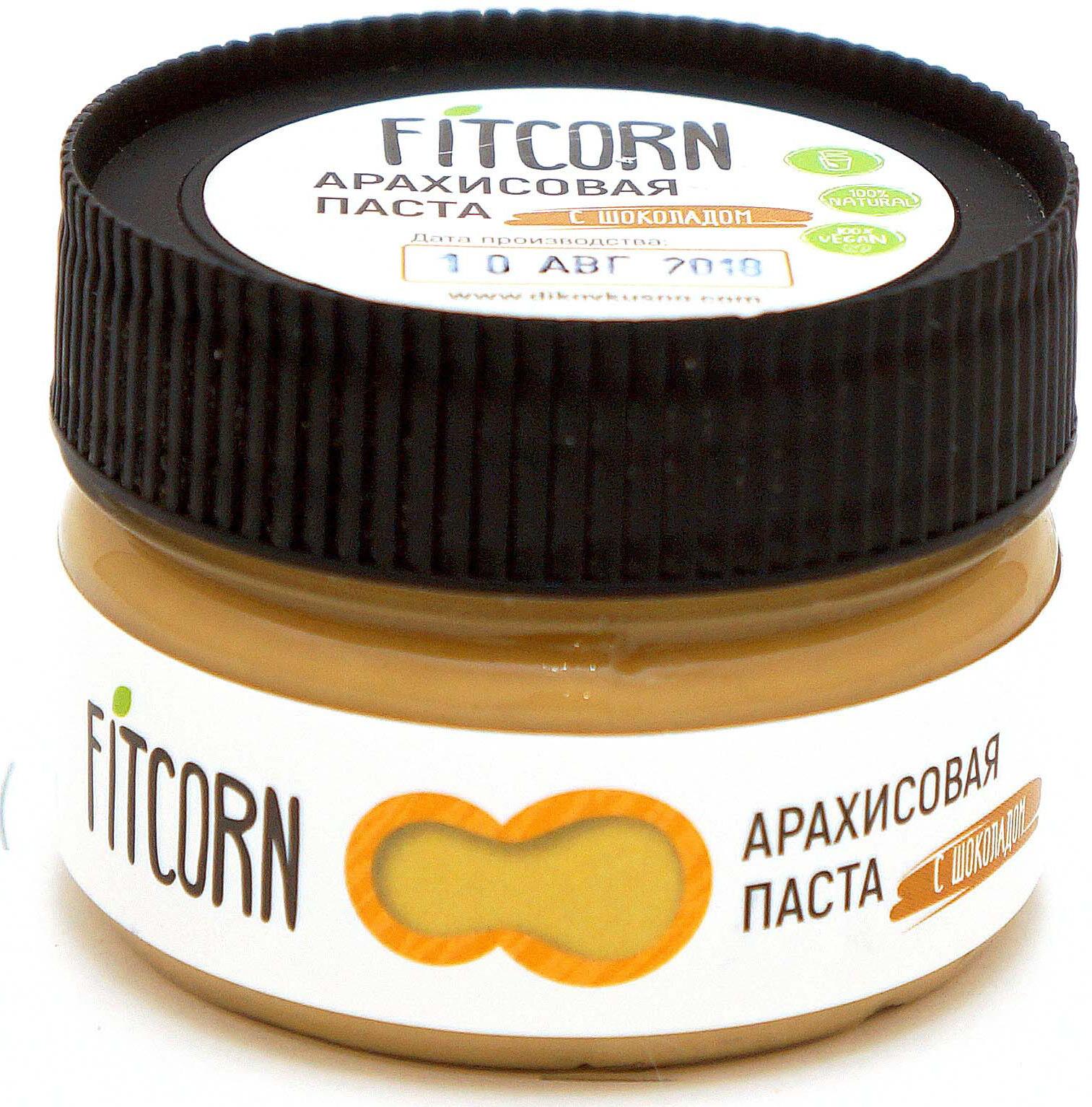 Арахисовая паста Fitcorn с белым шоколадом, 80 г