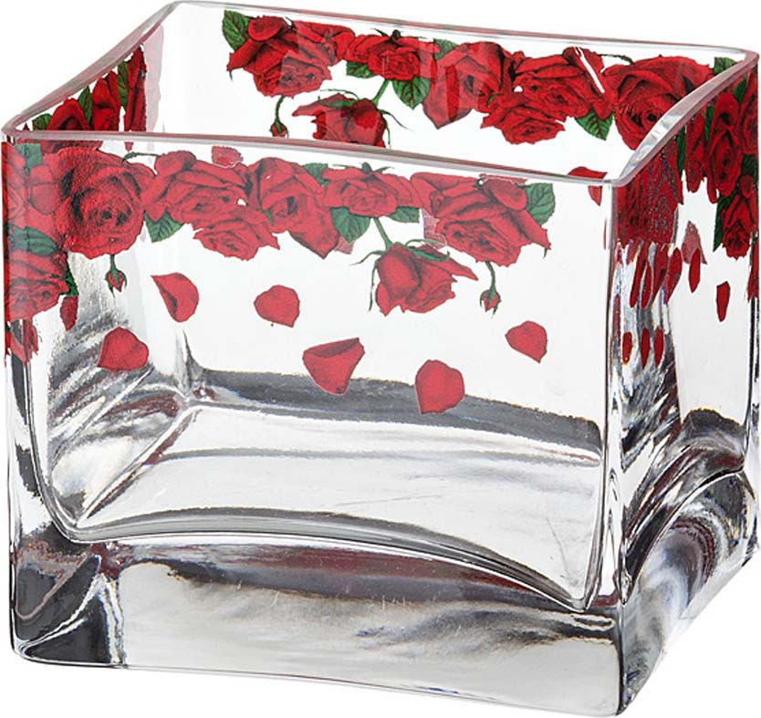 Ваза Lefard Розарий, 484-240, прозрачный, 10 х 8 х 8.5 см ваза lefard подсолнух цвет коричневый 27 х 27 х 19 5 см